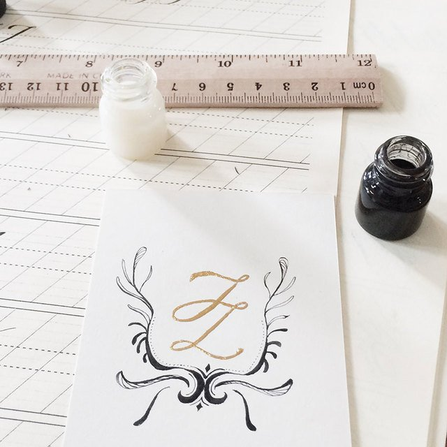 Basic Calligraphy & Gold Foil  Image Gallery