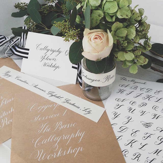 Calligraphy & Flower Arrangement Image Gallery