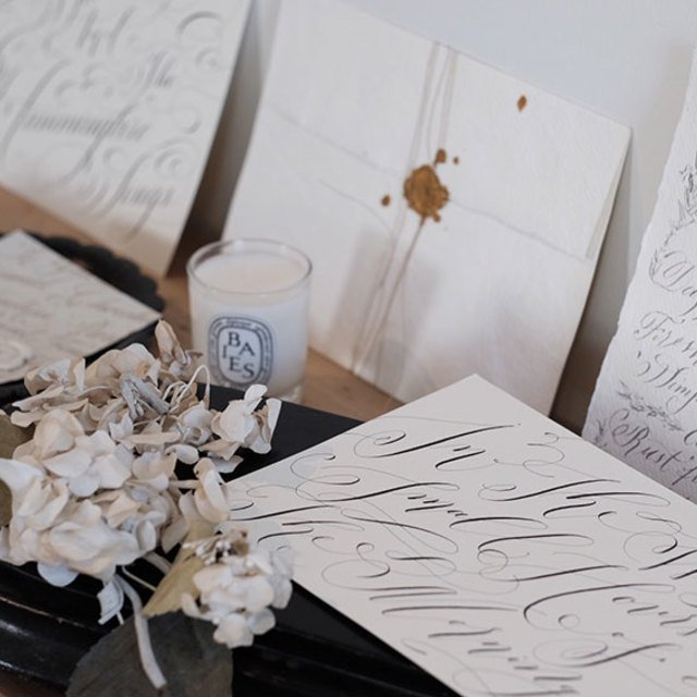 Classic Calligraphy at Fog Image Gallery
