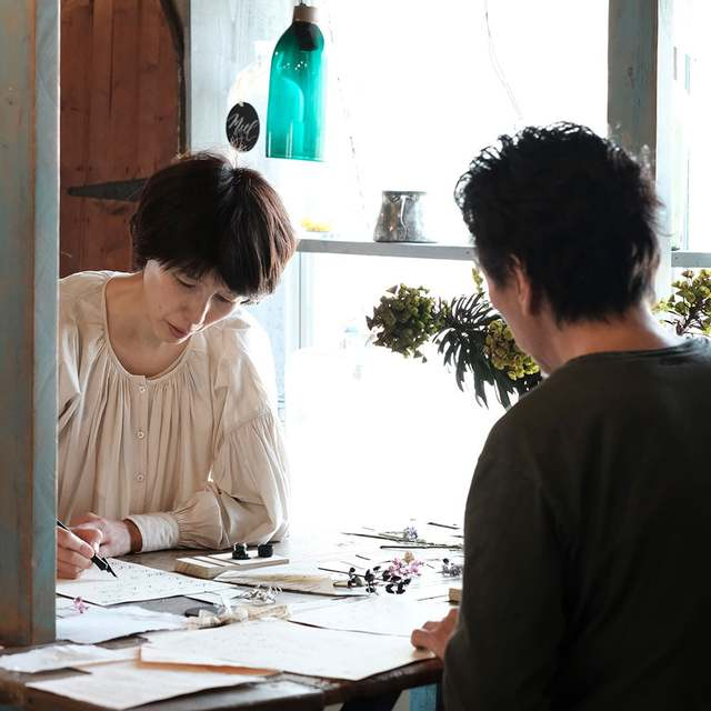 Modern Calligraphy and Flower Noritake Special Workshop Image Gallery