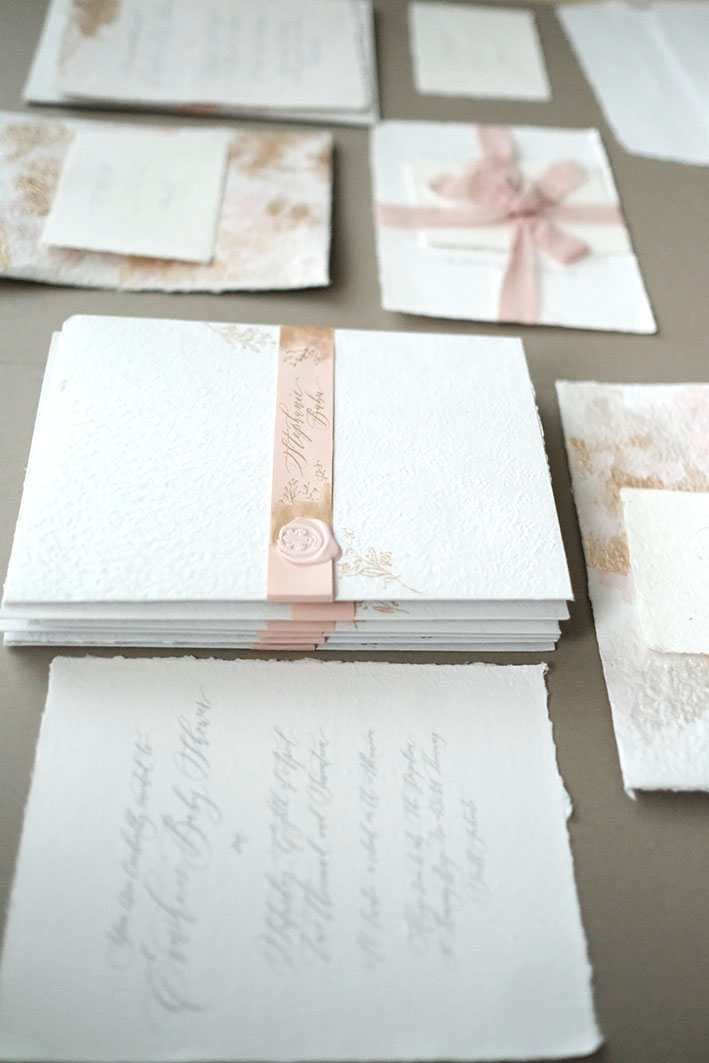 Blush & Gold Baby Shower Stationery gallery image