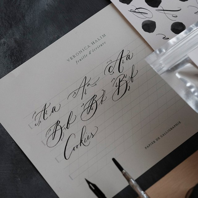 Modern Calligraphy and Cookie Labels Image Gallery