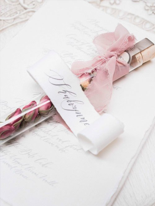 Blush & Gold Baby Shower Stationery