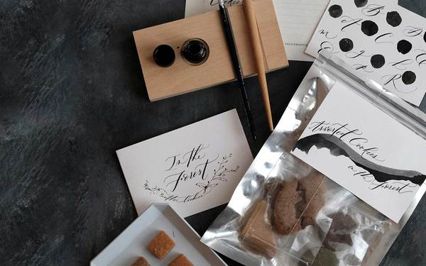 Modern Calligraphy and Cookie Labels