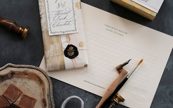 Copperplate Calligraphy, Chocolate Box Label and Wrapping Workshop