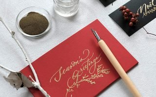 [TOKYO] Christmas Card  Making with Gold Embossing Powder