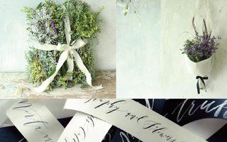 Flower Noritake & Calligraphy
